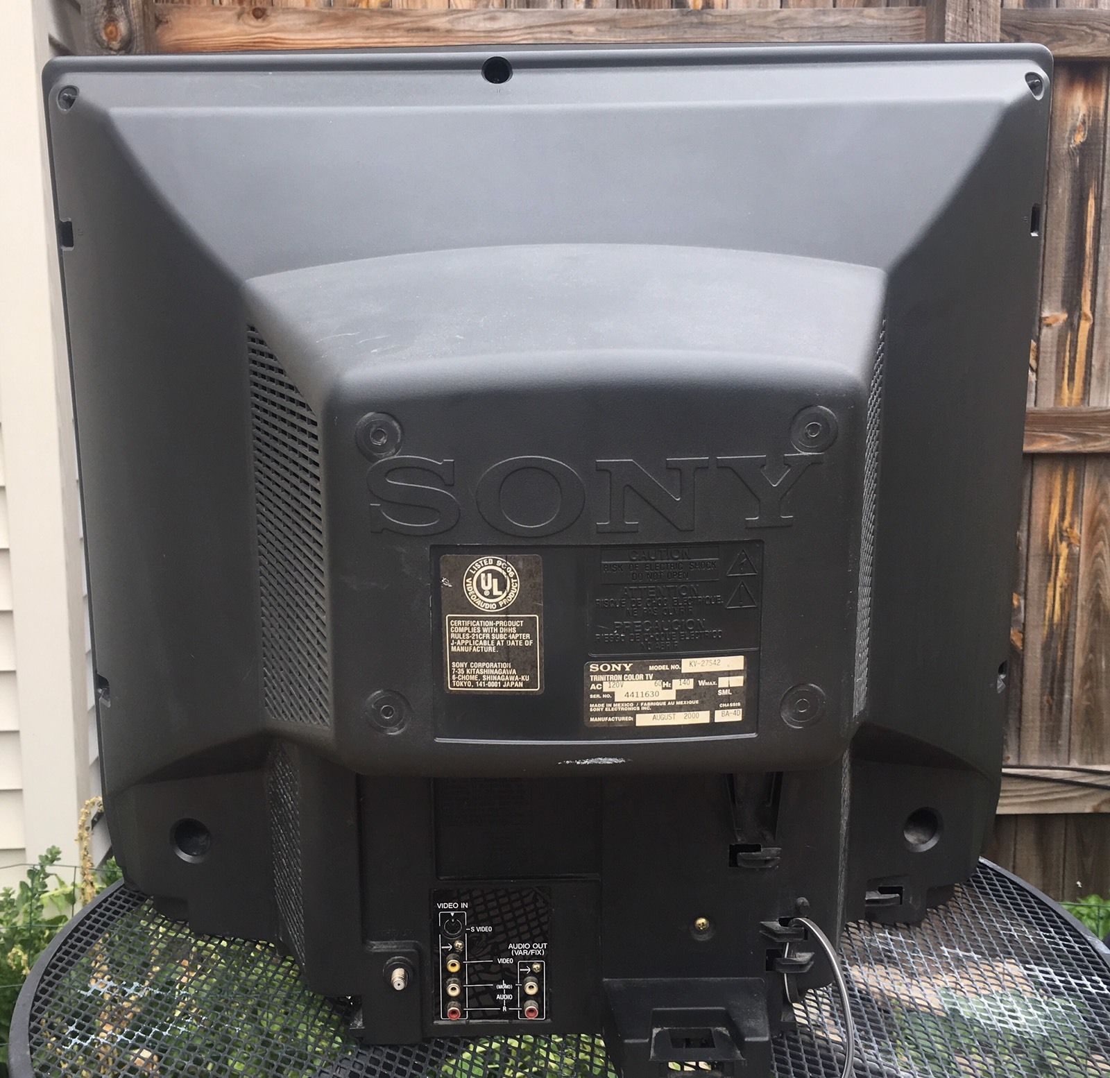 Vintage Sony Kv 27s42 Trinitron Color Tv 27 Crt Working Retro