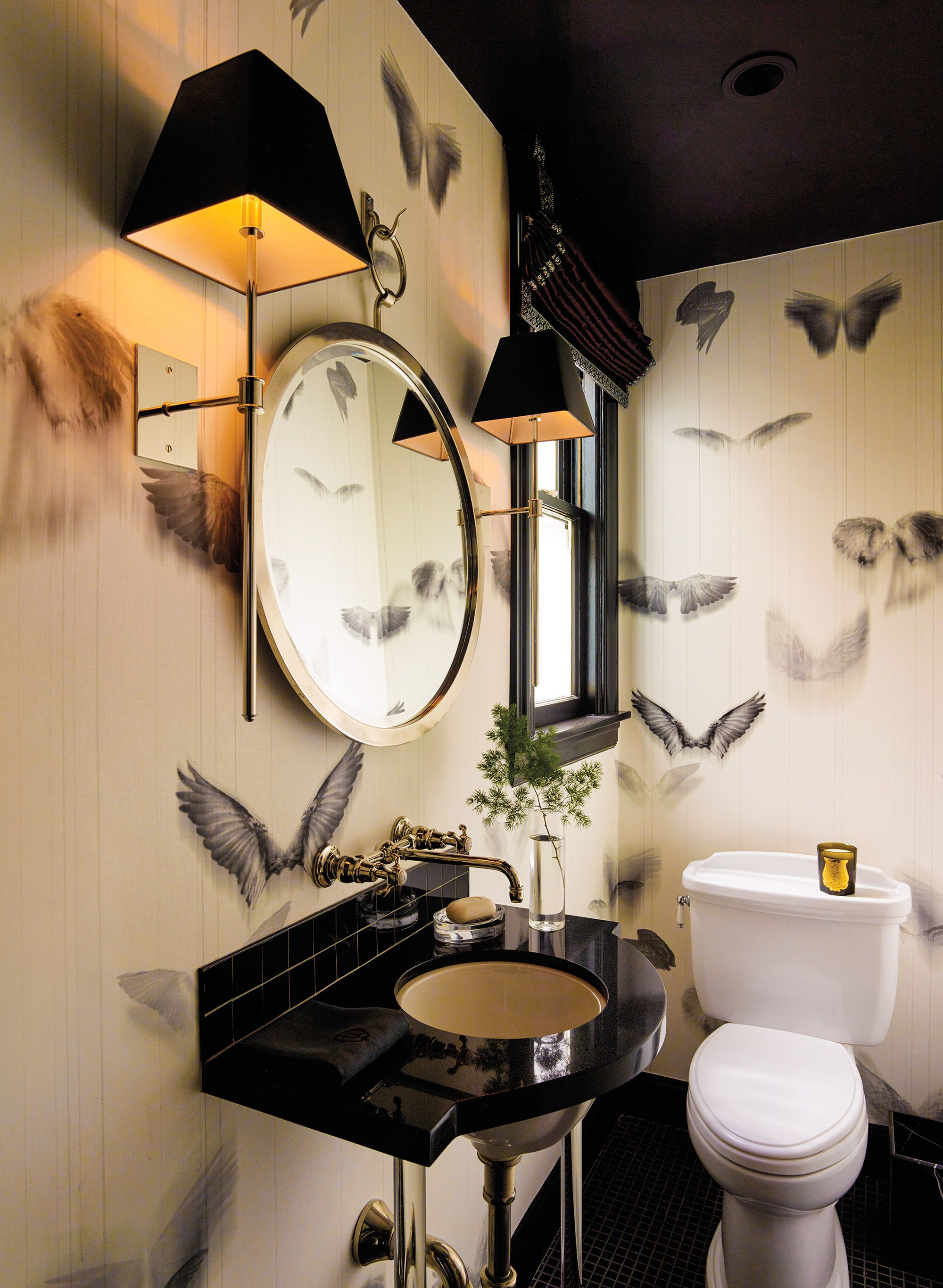 Op Art Inspired Trove Wallpaper Enlivens The Homes Powder Room