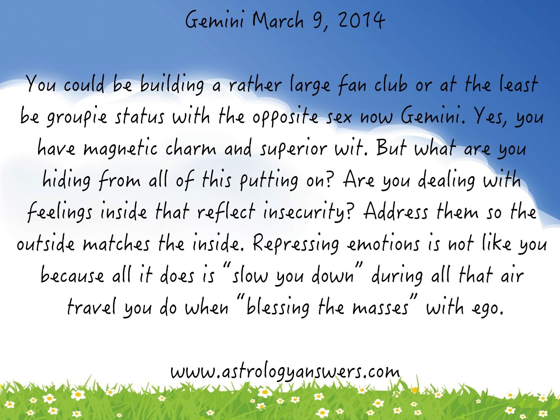 9 march horoscope for gemini