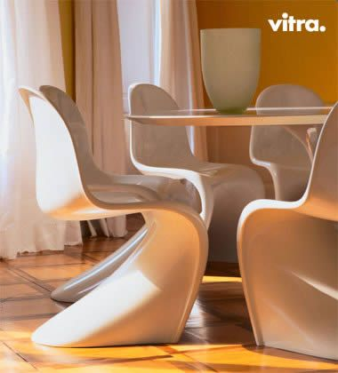 Vitra Panton Chairs could be sculptural elements around the dining ...