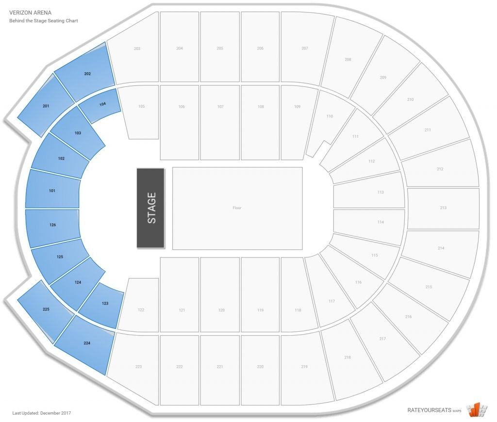 Verizon Arena Little Rock In 2020 Seating Charts Seating Chart