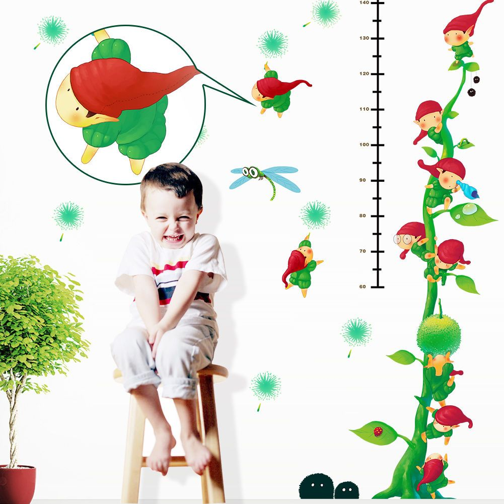 Cartoon gnomes and the beanstalk height chart wall sticker cartoon gnomes and the beanstalk height chart wall geenschuldenfo Image collections