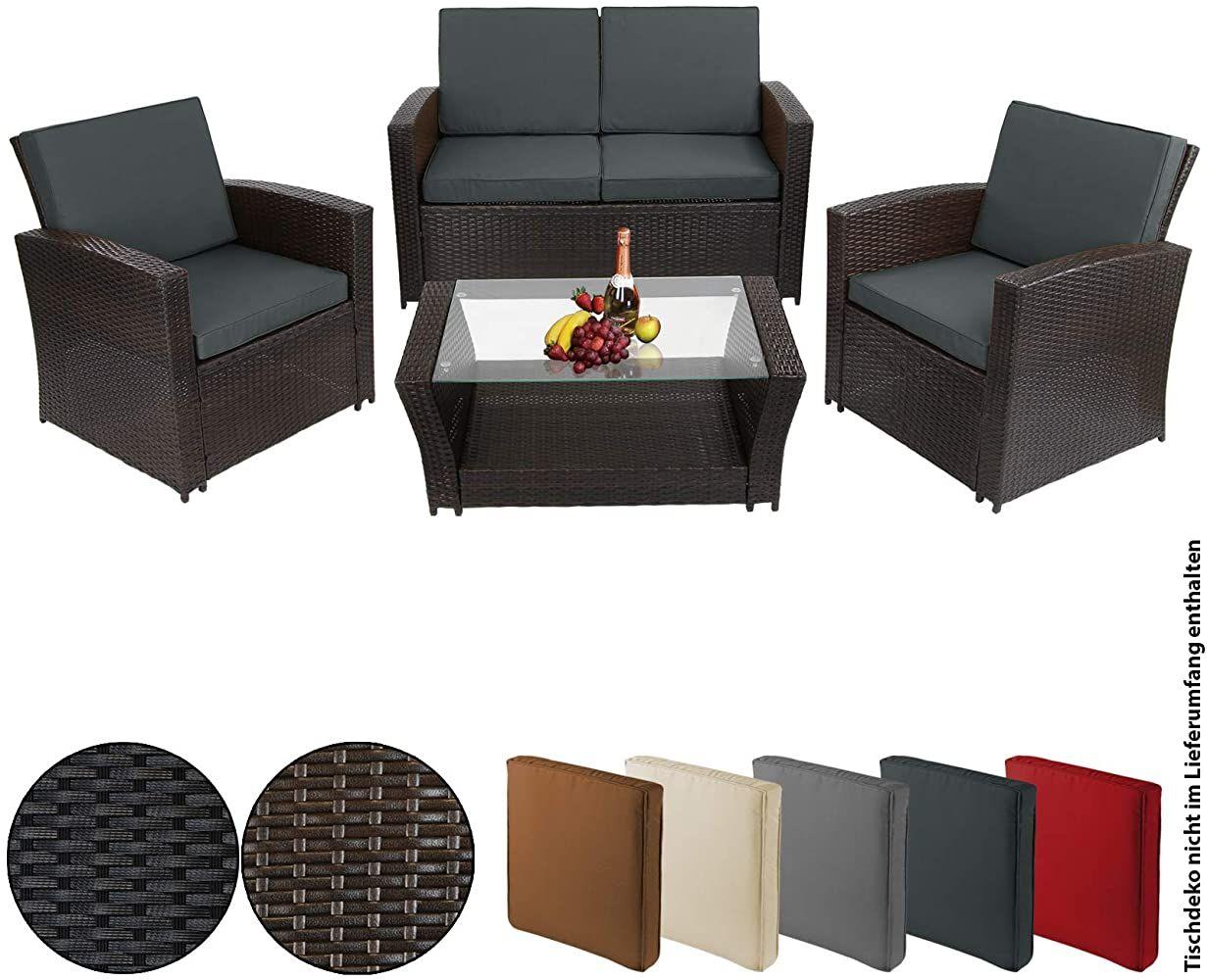 Bb Sport 12 Teilige Polyrattan Sitzgruppe Fur 4 Personen Inkl Sitzpolster Und Bezuge Farbe Schwarz Braun M Outdoor Furniture Sets Home Decor Outdoor Furniture