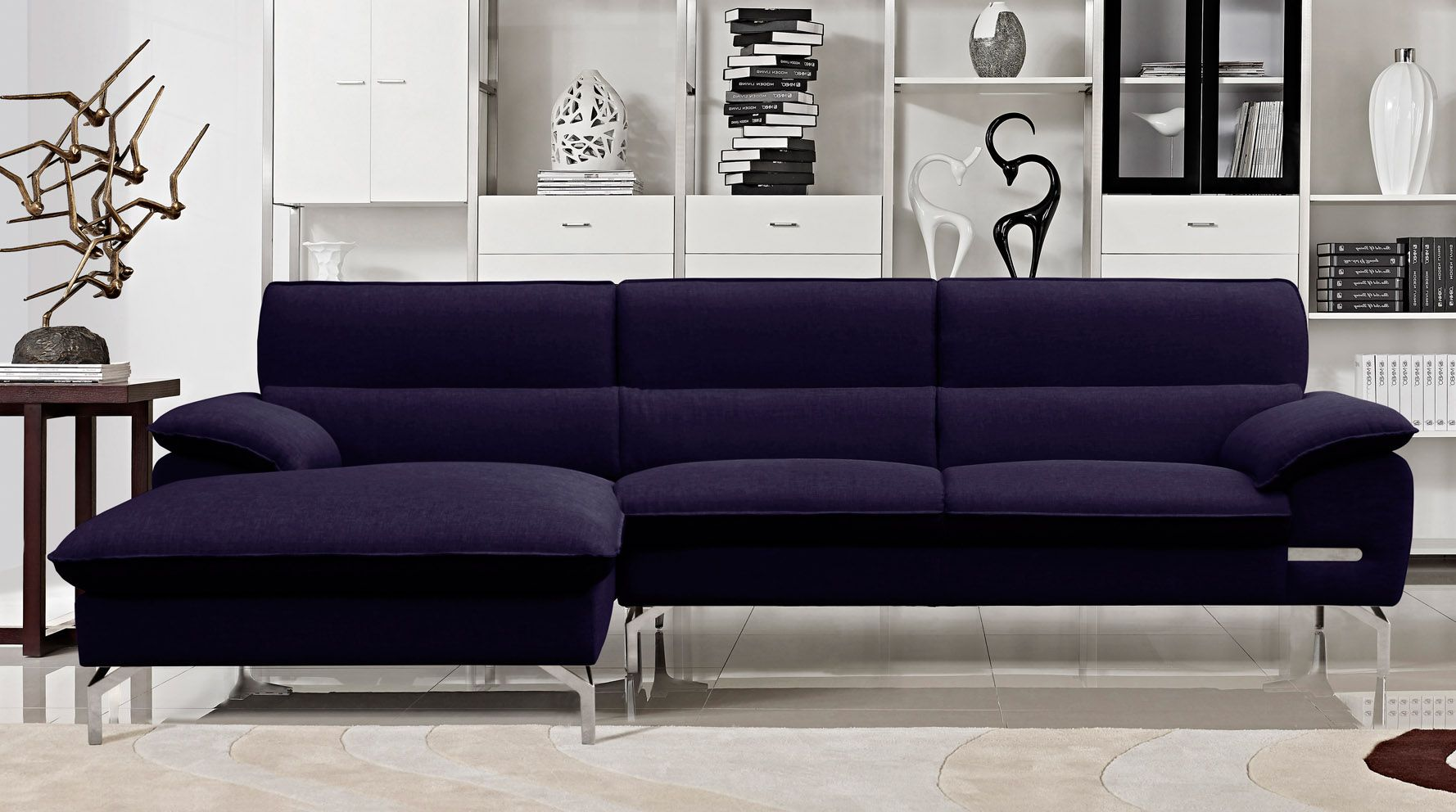 Sapphire Sectional Zuri Furniture Contemporary Sectional Sofa Cheap Living Room Sets Cheap Living Room Furniture #sectional #sofa #living #room #sets
