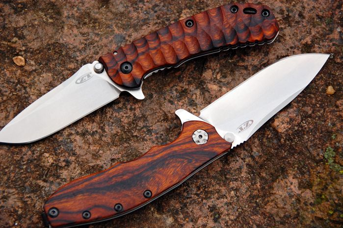 ZT550 custom Bocote wood scale Knives are tools t