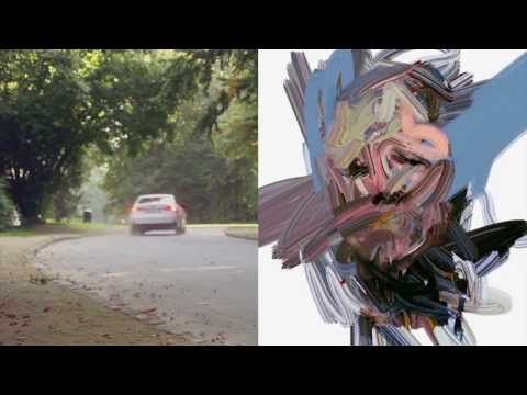 """With """"Art is motion"""", Lexus and HAPPINESS (in  collaboration with Spanish multimedia artist Sergio Albiac) used data generated by driving to create an individual portrait of the driver."""