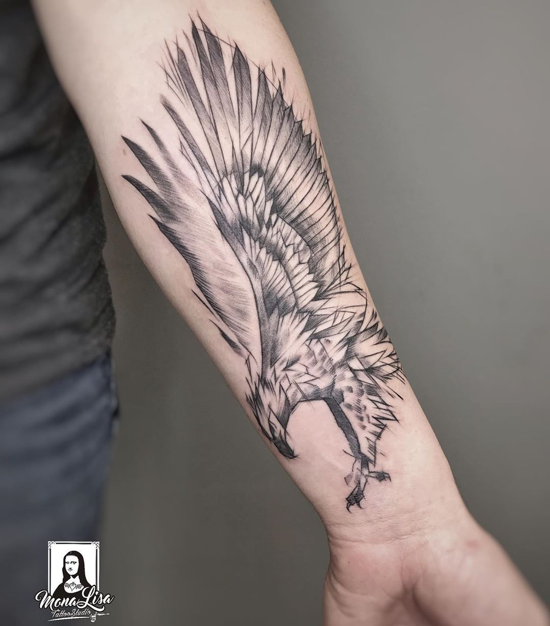 #tattoo #tattoos #tattooart #sketchtattoo #sketchytattoo #birdtattoo #wingstattoo #forearmtattoo #blacktattoo #graphictattoo #polandtattoos #białystoktattoo #monalisabialystok