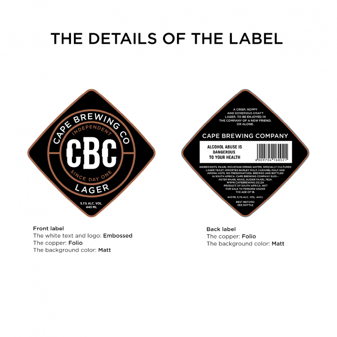CBC Cape Brewing Company - No Picnic Industrial Design