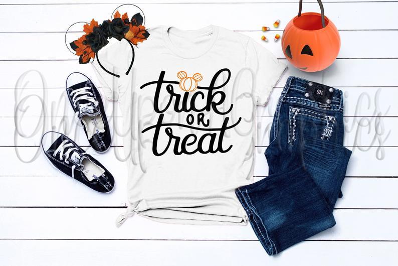 Trick or Treat svg Disney Halloween Mickey Pumpkin Etsy
