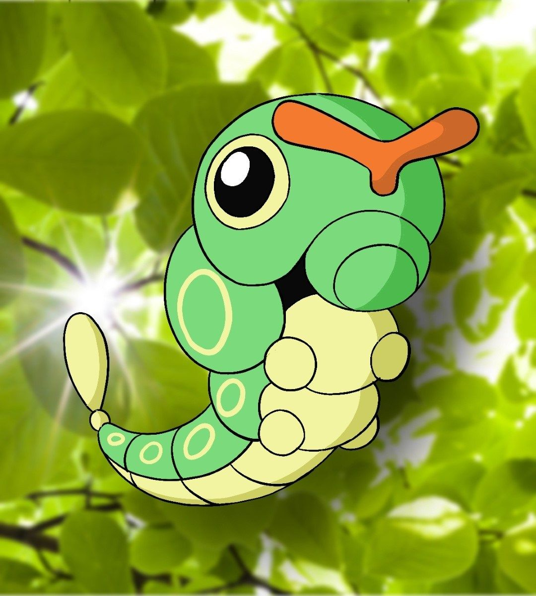 How to draw caterpie pokemon draw central in 2020