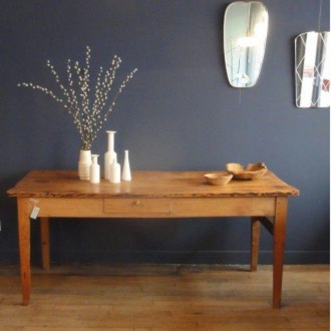 ancienne table de ferme en orme ormus table home. Black Bedroom Furniture Sets. Home Design Ideas