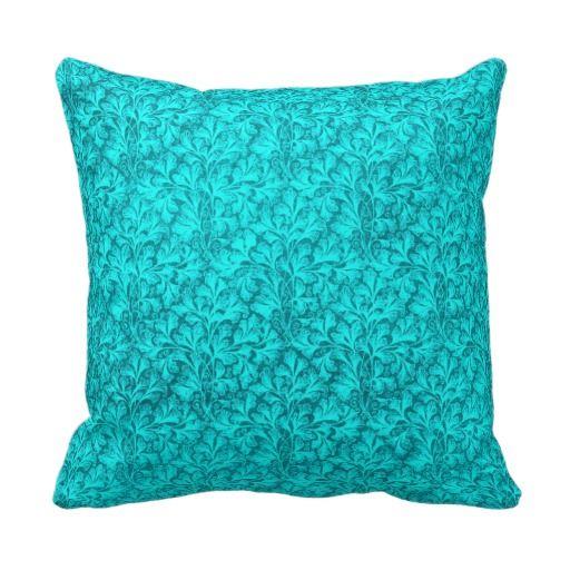 Vintage Lace Leaf Peacock Pillow