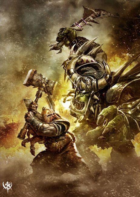 Warhammer Online: Dwarf Hammerer vs. Black Orc | Боевой ...