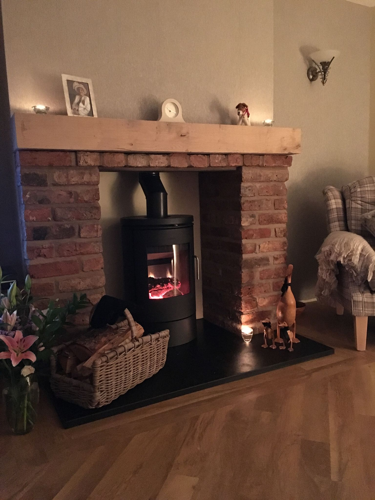 Morso 6140 With Cheshire Brick Work And Slate Hearth Nice And