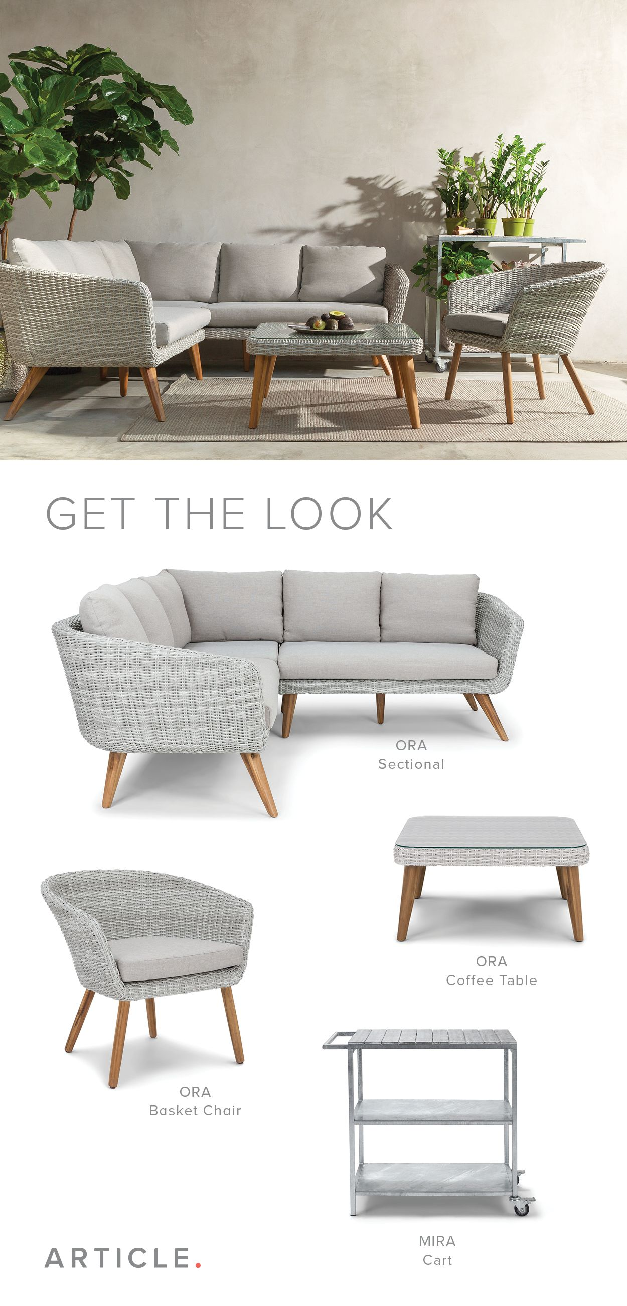With Weather Resistant Cushions And Weaving Our Outdoor Collection Lets You Take Your Modern Design Aesthet Furniture Scandinavian Furniture Outside Furniture