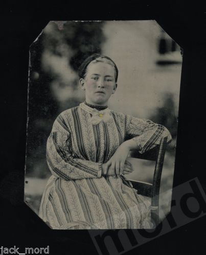 Compelling Portrait of A Sad Woman Photographed Outdoors 1860s Tintype Photo | eBay