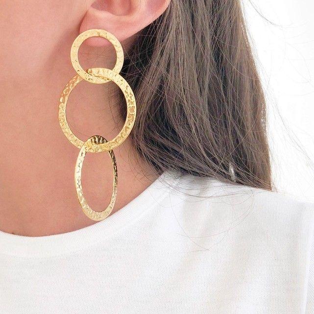 meilleurs tissus capture mode de premier ordre Boucles d'oreilles Martelée in 2019 | Jewelry Palette | Hoop ...