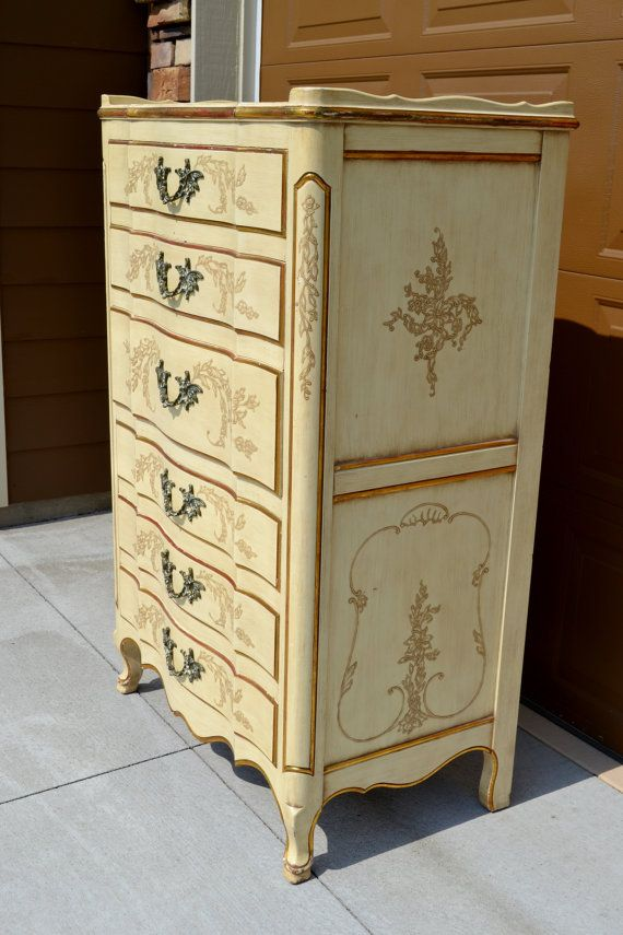 John Widdicomb French Provincial Tall Dresser By Chalksolot