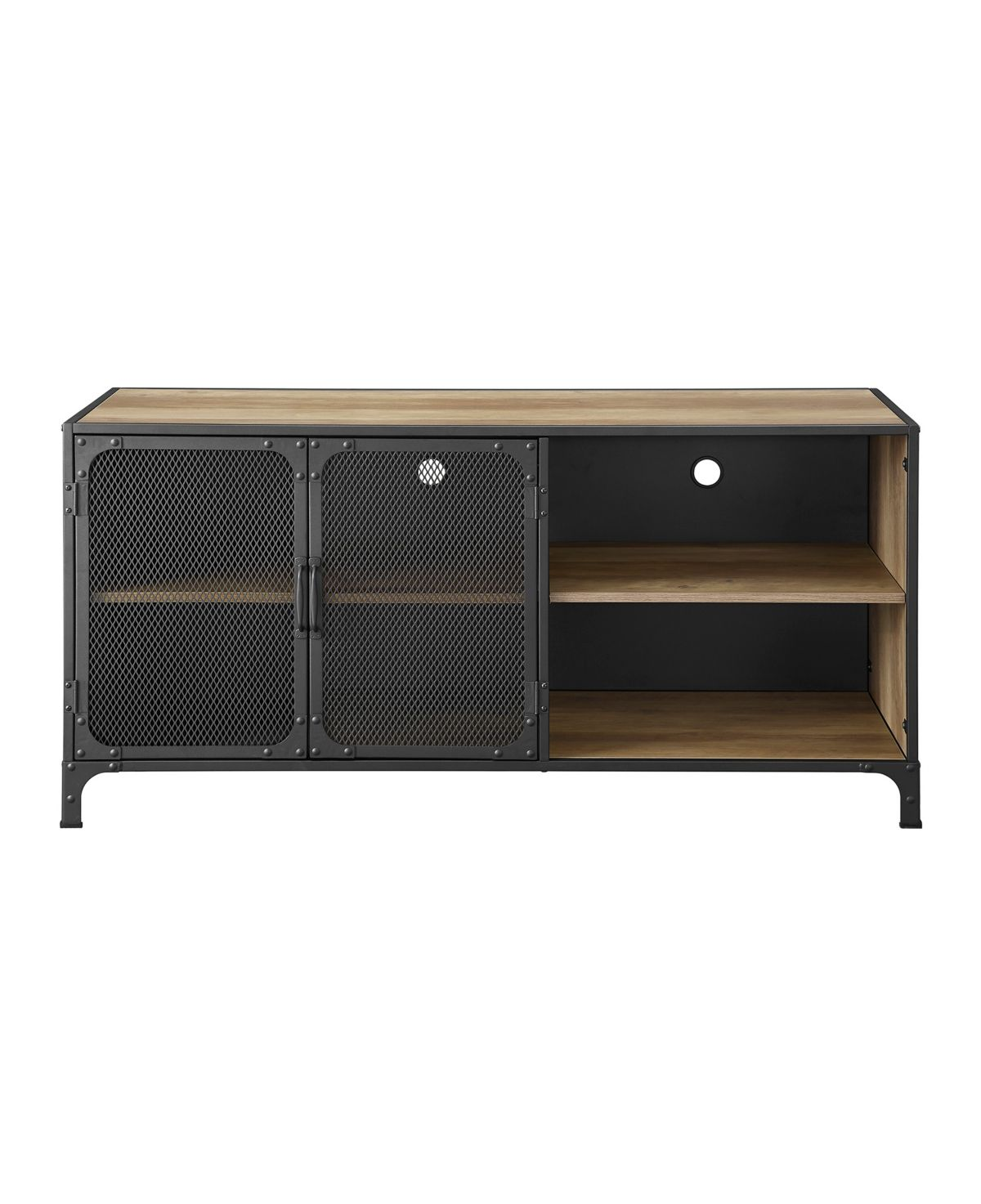 Walker Edison Industrial Metal And Wood Tv Stand Reviews