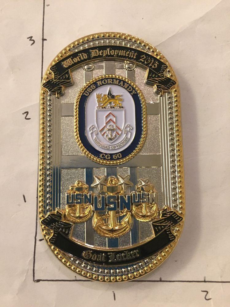 Uss Normandy Cg 60 Door Navy Chief Cpo Challenge Coin