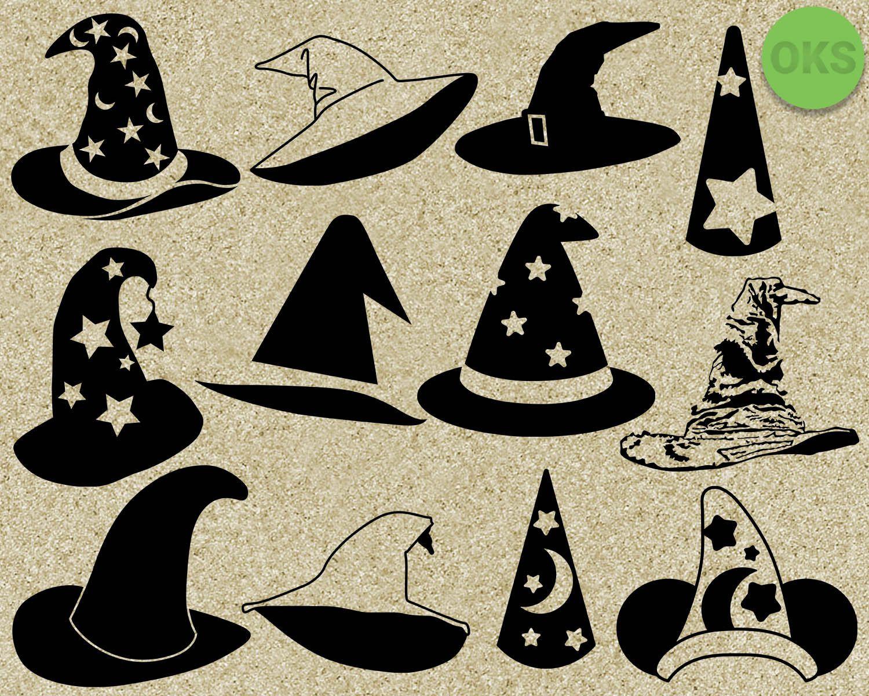 Wizard Hat Svg Sorting Hat Svg Files Harry Potter Hat Vector Clipart Cricut Download Hat Vector Harry Potter Hat Sorting Hat