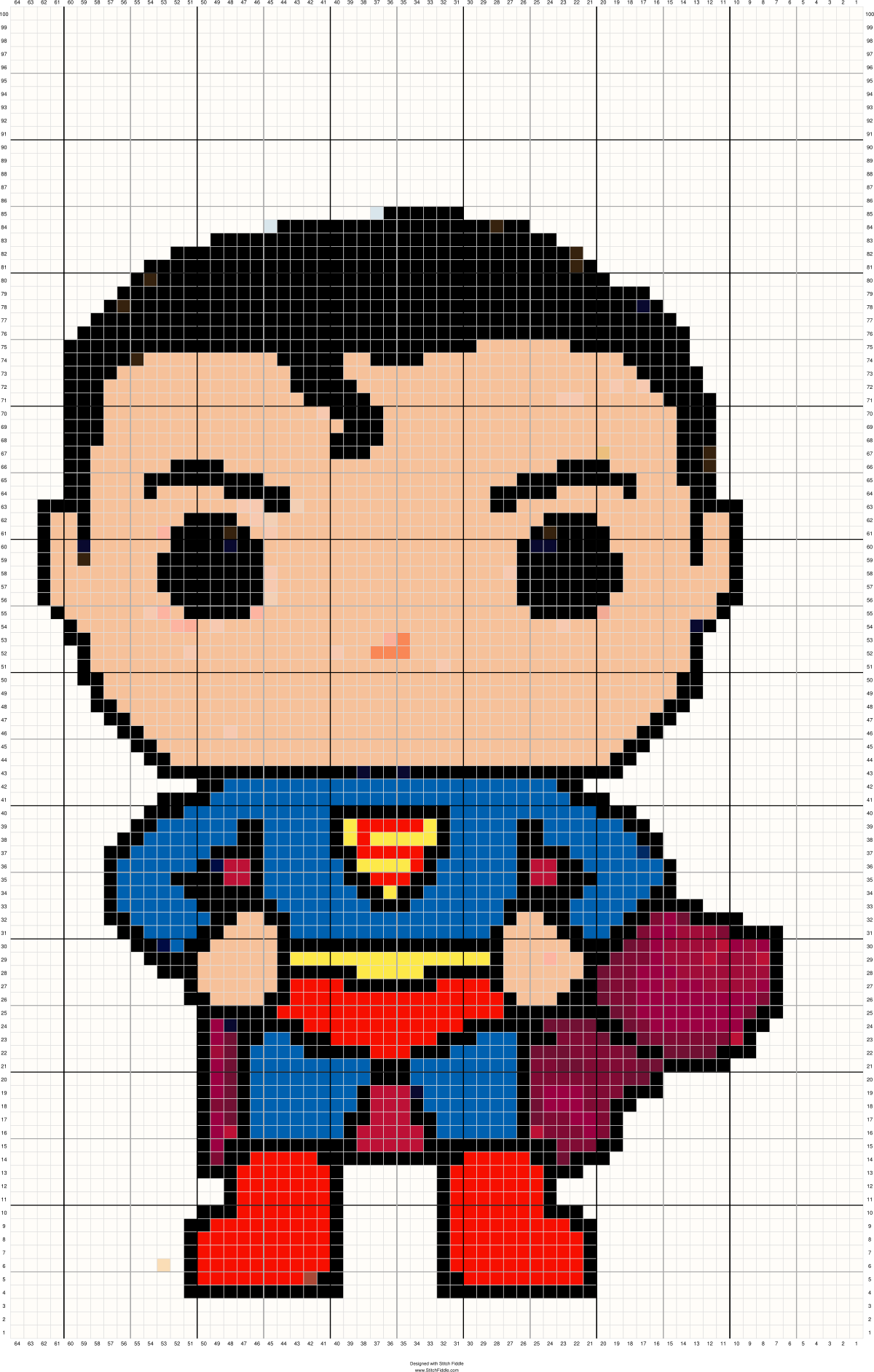 Superman Cross Stitch Pattern Maker Cross Stitch Patterns