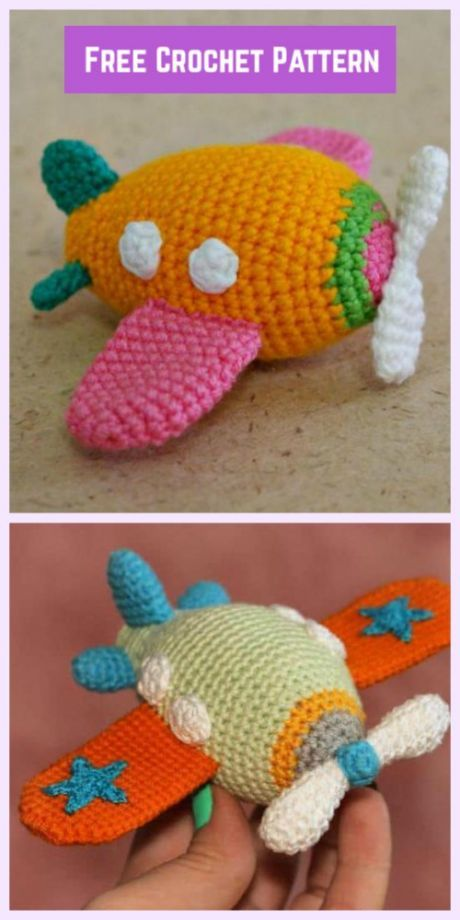 Crochet Airplane Amigurumi Free Patterns | Crochet | Pinterest | Die ...