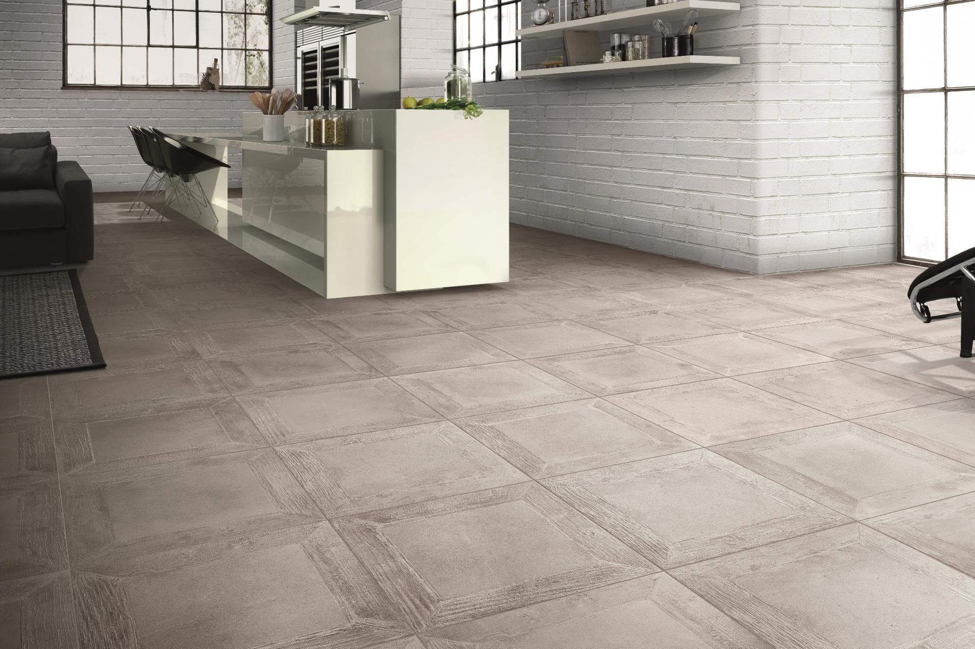 Cisa ceramiche boheme grigio wooden look tiles square pattern
