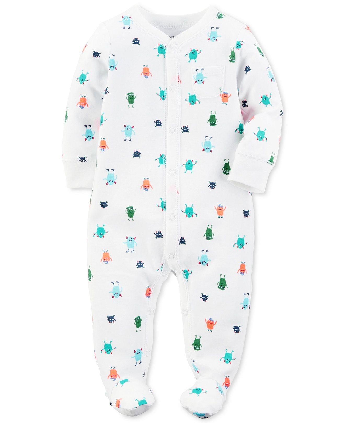 3a5e6cb6d9c9 Carter s 1-Pc. Monster-Print Footed Coverall