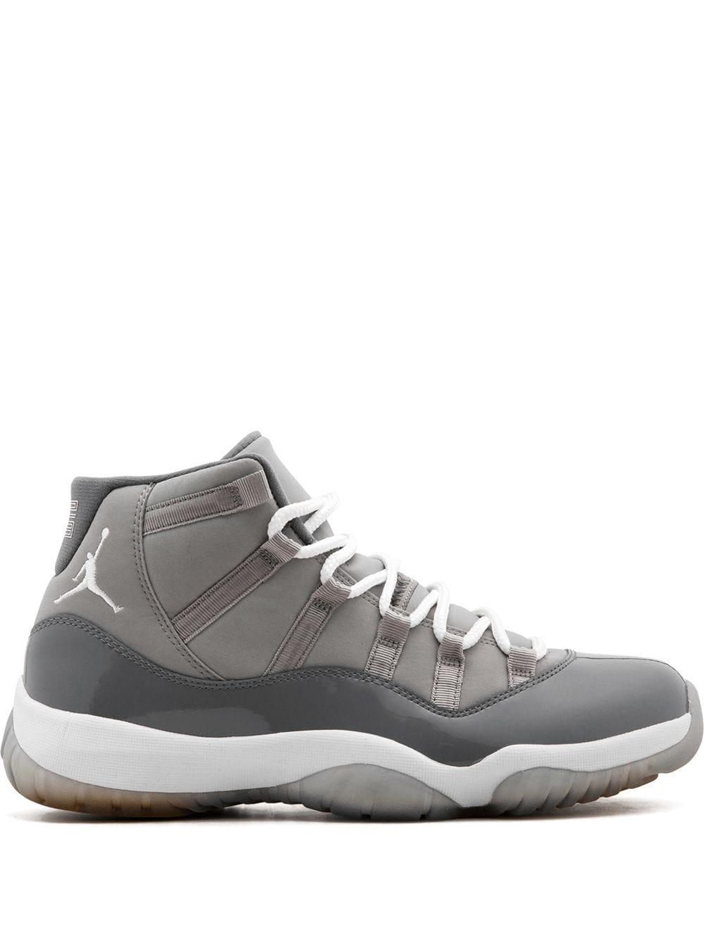 air jordans grey and white