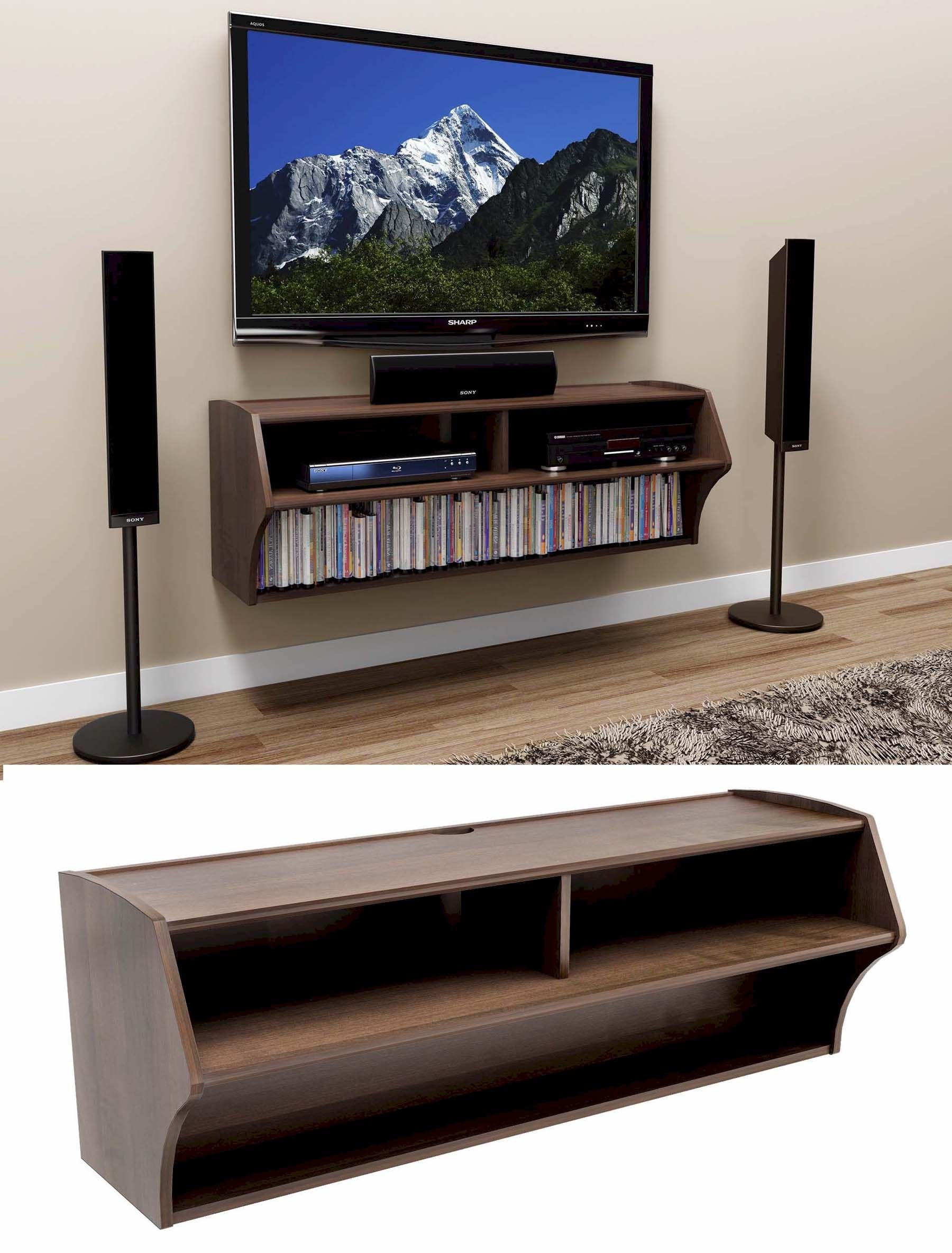 Wall Mounted Tv Stand With Shelf Tv Wall Mount Ideas In 2018