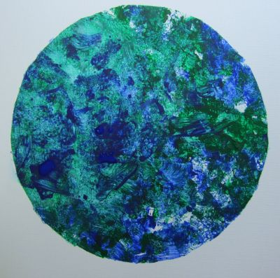 splat-painted earth craft for summer