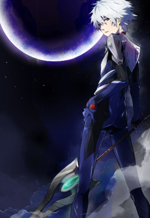 Kaworu Nagisa from Evangelion. This show is an anime fan must-watch.