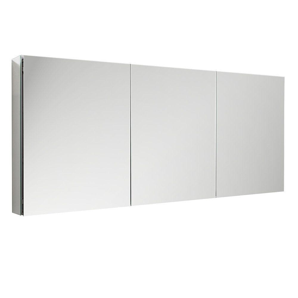 Fresca 60 Wide X 36 Tall Bathroom Medicine Cabinet W Mirrors Silver Alumin Adjustable Shelving Medicine Cabinet Mirror Bathroom Medicine Cabinet