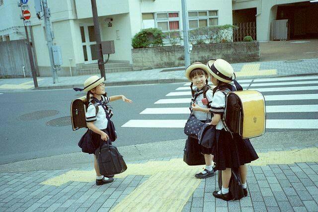 Little students in Japan