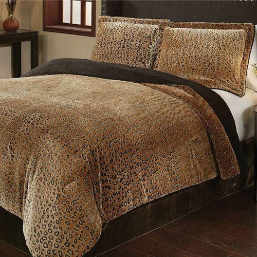Merveilleux Cheetah Mini Comforter Set Caramel