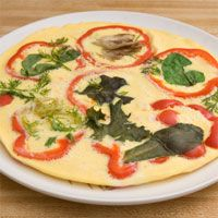 Vegetable Frittata Recipe- I love how it gives you the price per serving instead of calories!