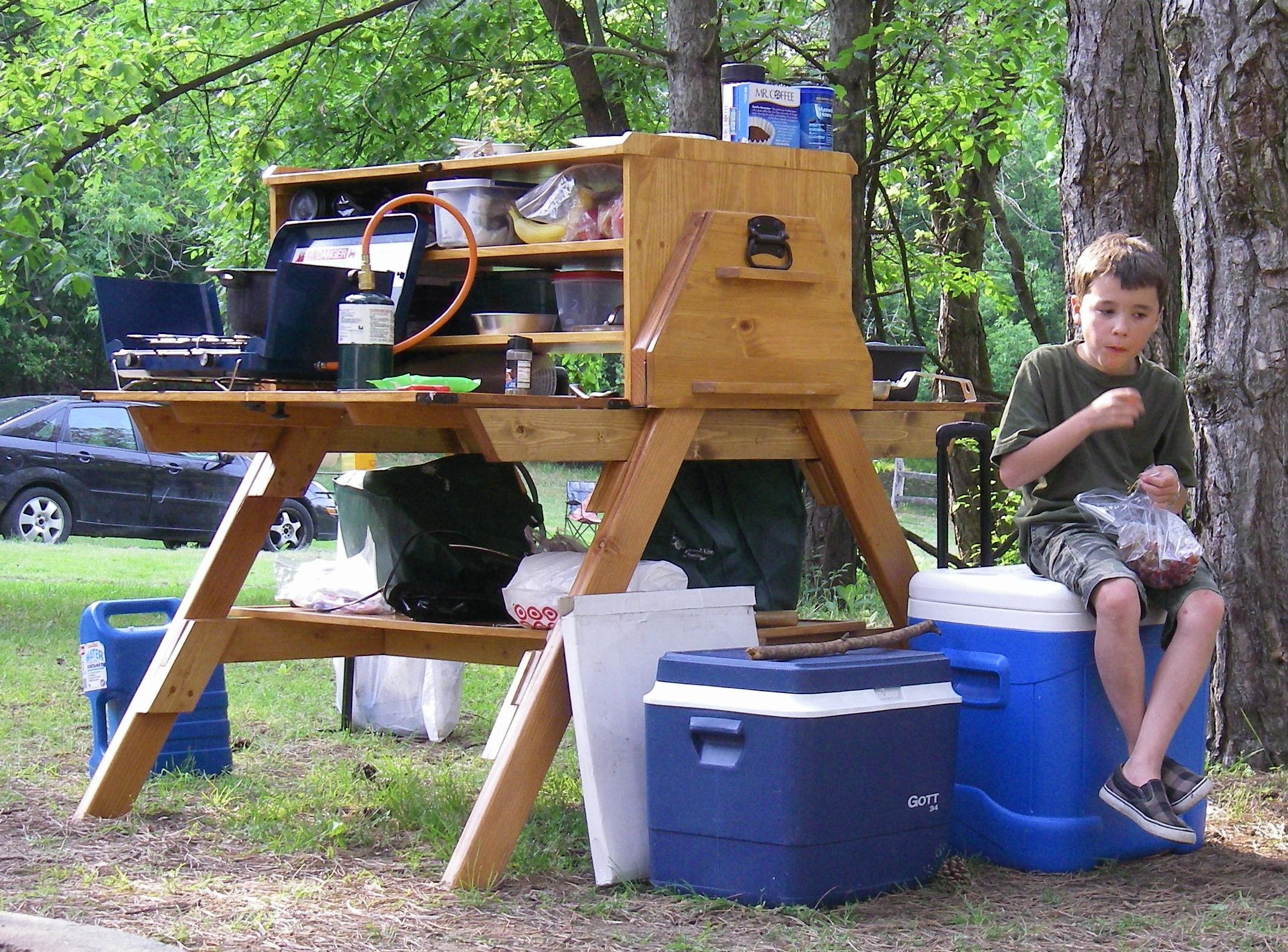 227 best camp box images on pinterest camping kitchen camping