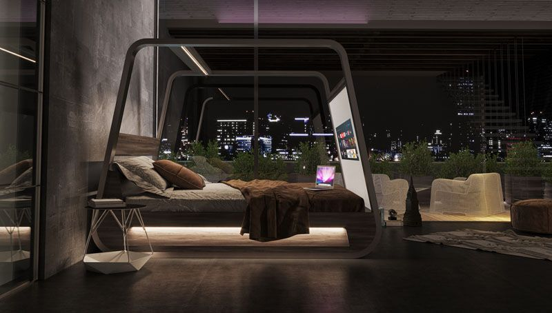 Best This Bed Is Designed With Hidden Features Like A Projector 400 x 300