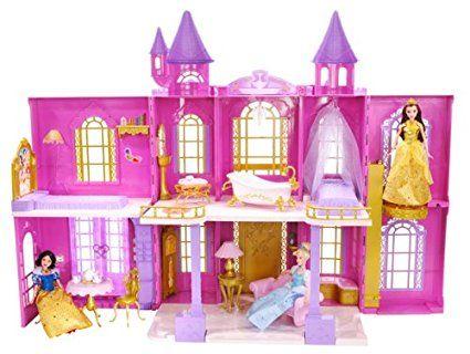 Amazon Com Disney Princess Enchanted Tales Deluxe Princess Castle
