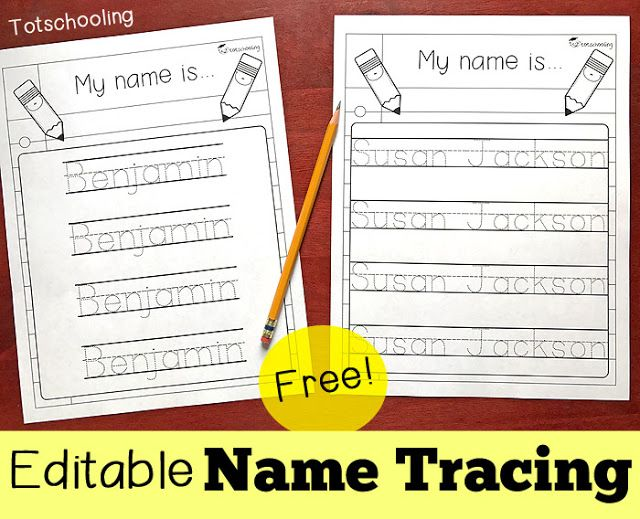 Editable name tracing sheet totschooling toddler preschool kindergarten educational printables also names rh pinterest