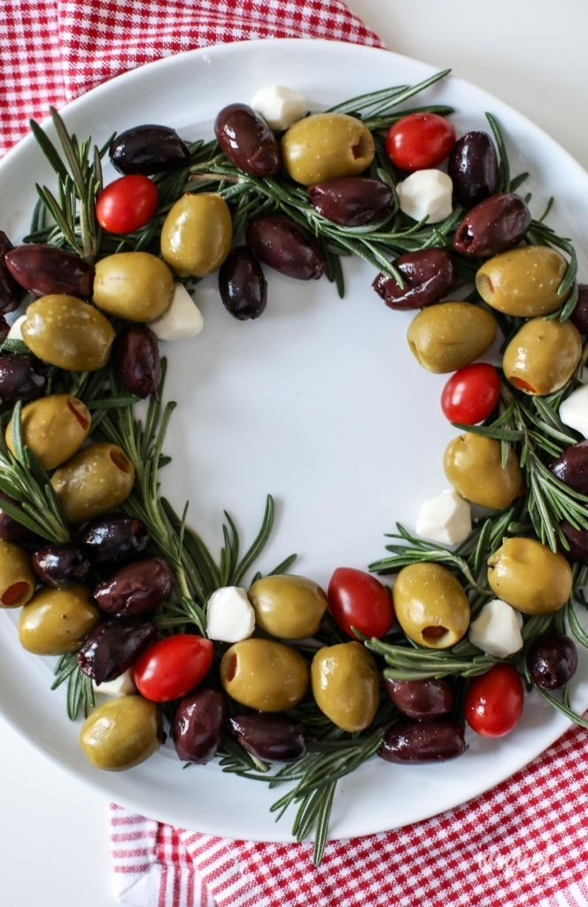 Olive Wreath Holiday Appetizer - easy Christmas appetizer recipe