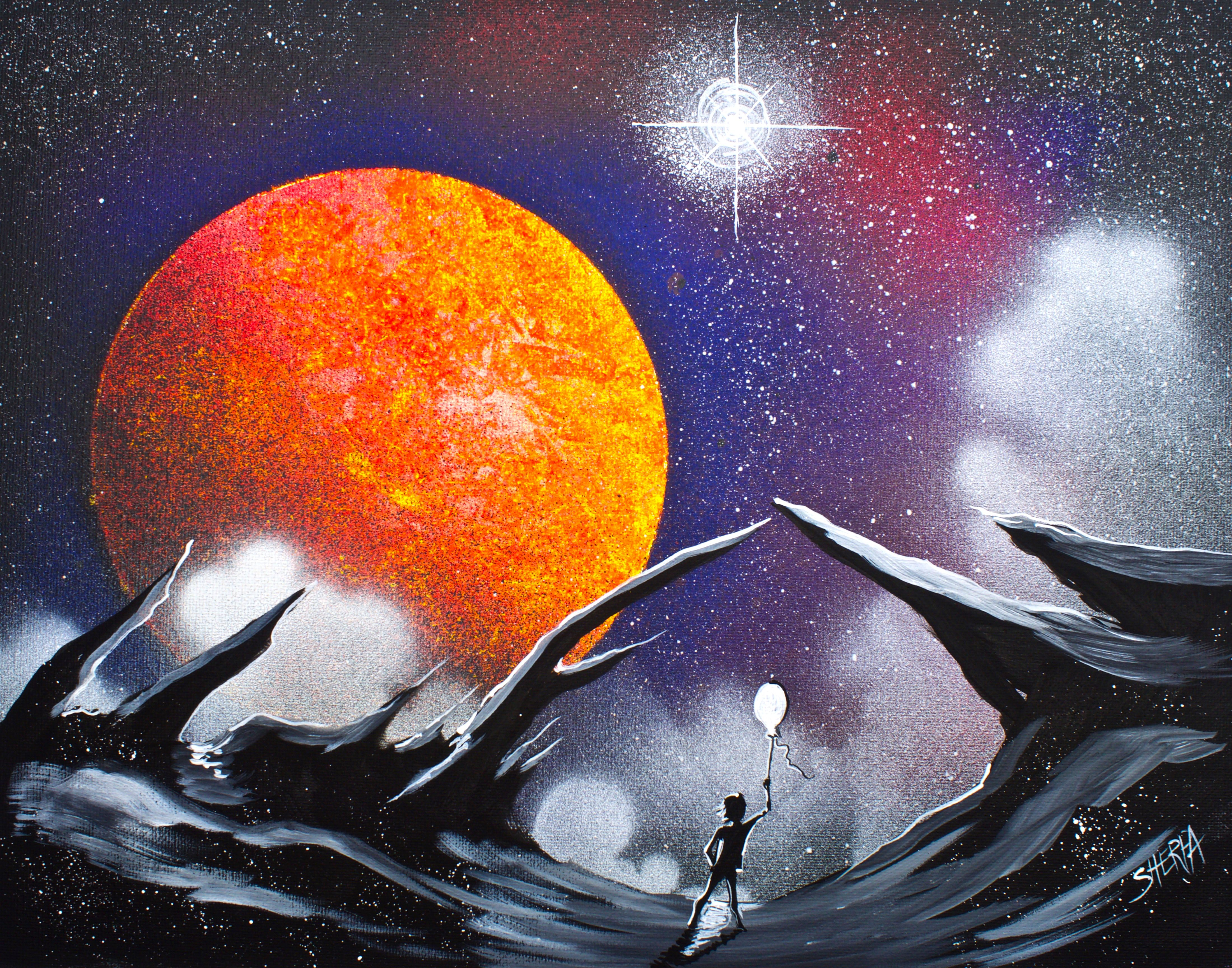 Galaxy Space scape acrylic painting for beginners step by ...