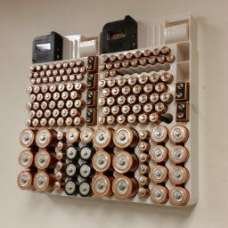 Battery Organizer   Perfect For The Organizational Nerd In All Of Us.  Organize All The Batteries In Your Household In This Neat Battery Organizer.