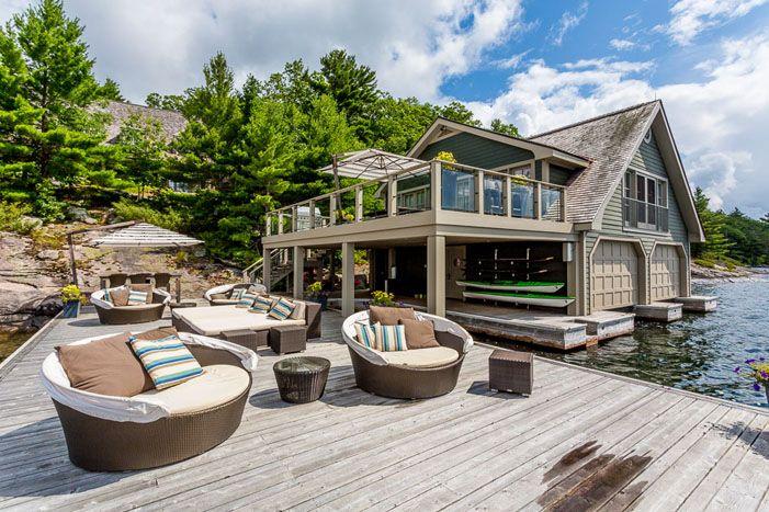 Boathouse Lakefront Living Luxury Cottage Lake House