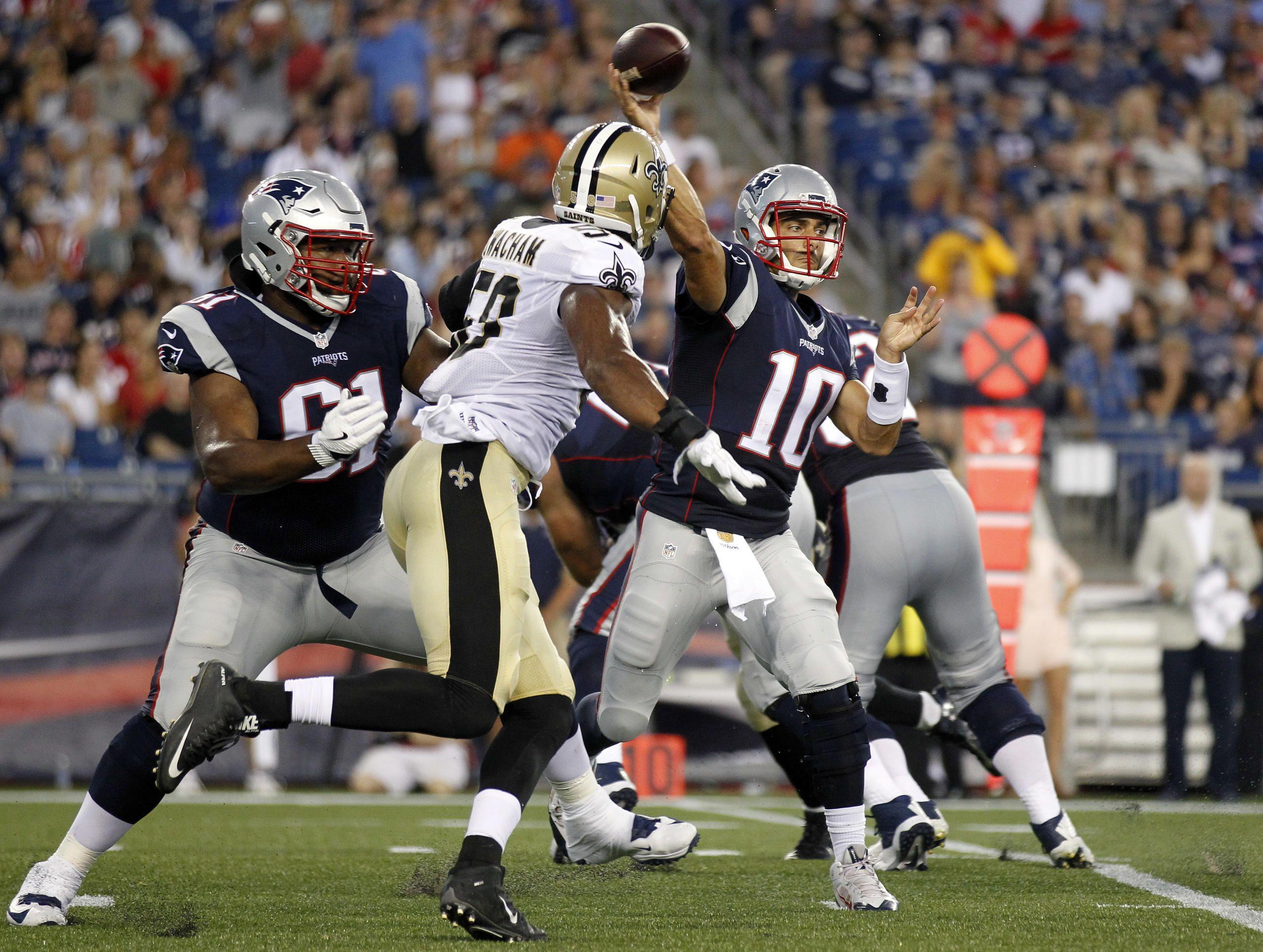 All The Highlights From The Patriots Saints Preseason Game Patriots Quarterbacks Patriots New England Patriots