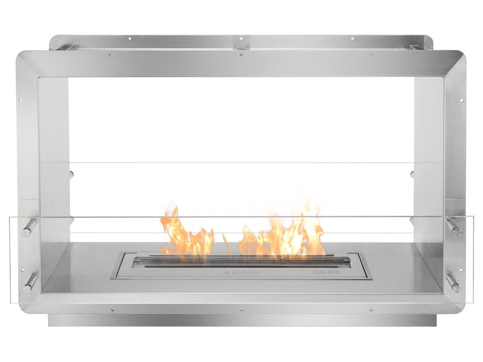 Ignis Ethanol Firebox 39 Built In See Through Ventless