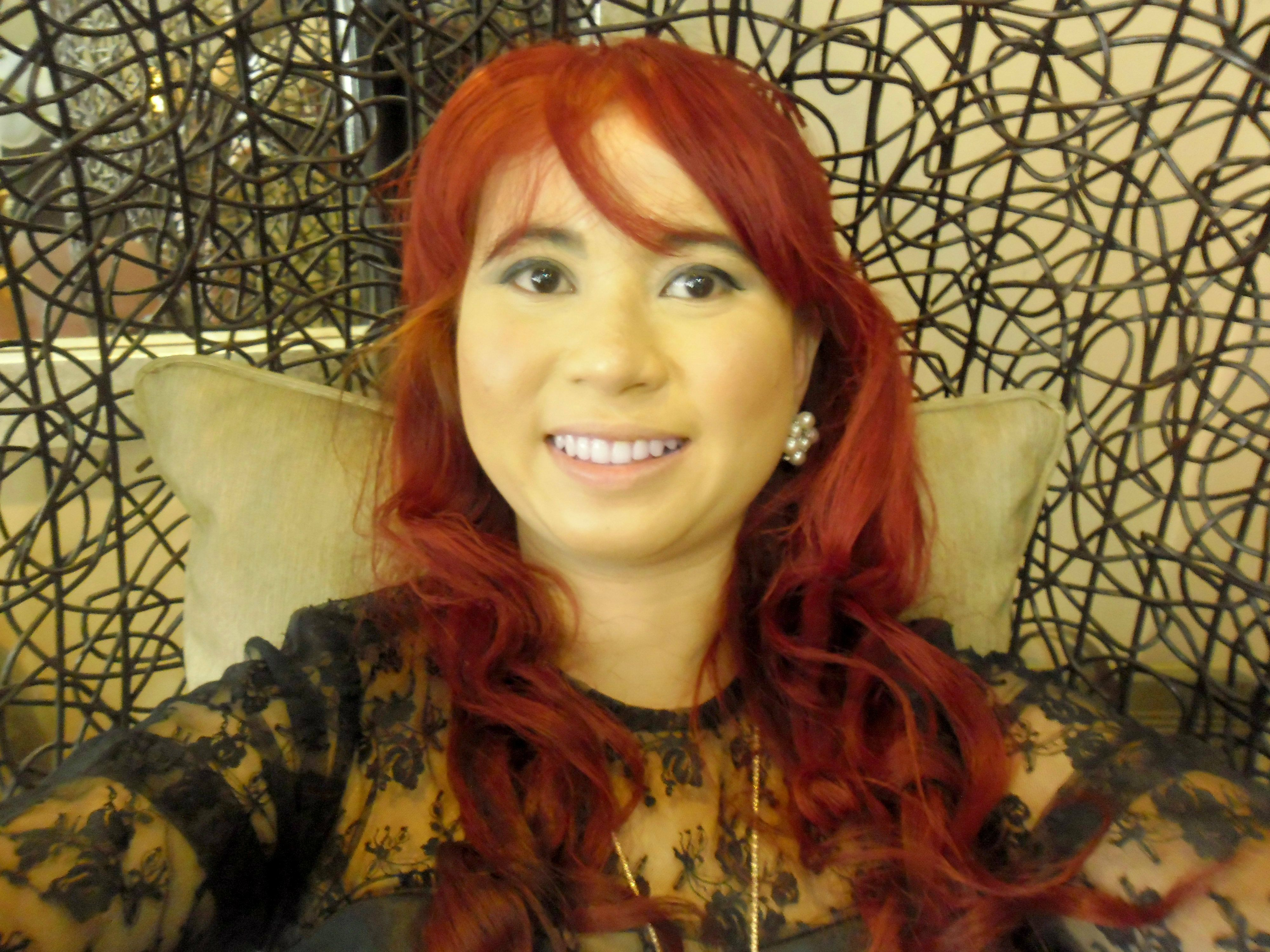 Crimson Obsession Splat Red Hair Dye By Joanna April Lumbad Red Hair Dyed Red Hair Dyed Hair