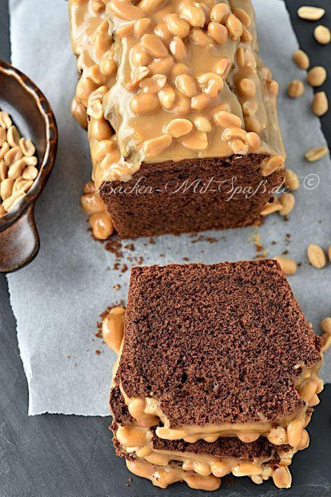 Schokokuchen mit Erdnuss-Karamell - Rezept