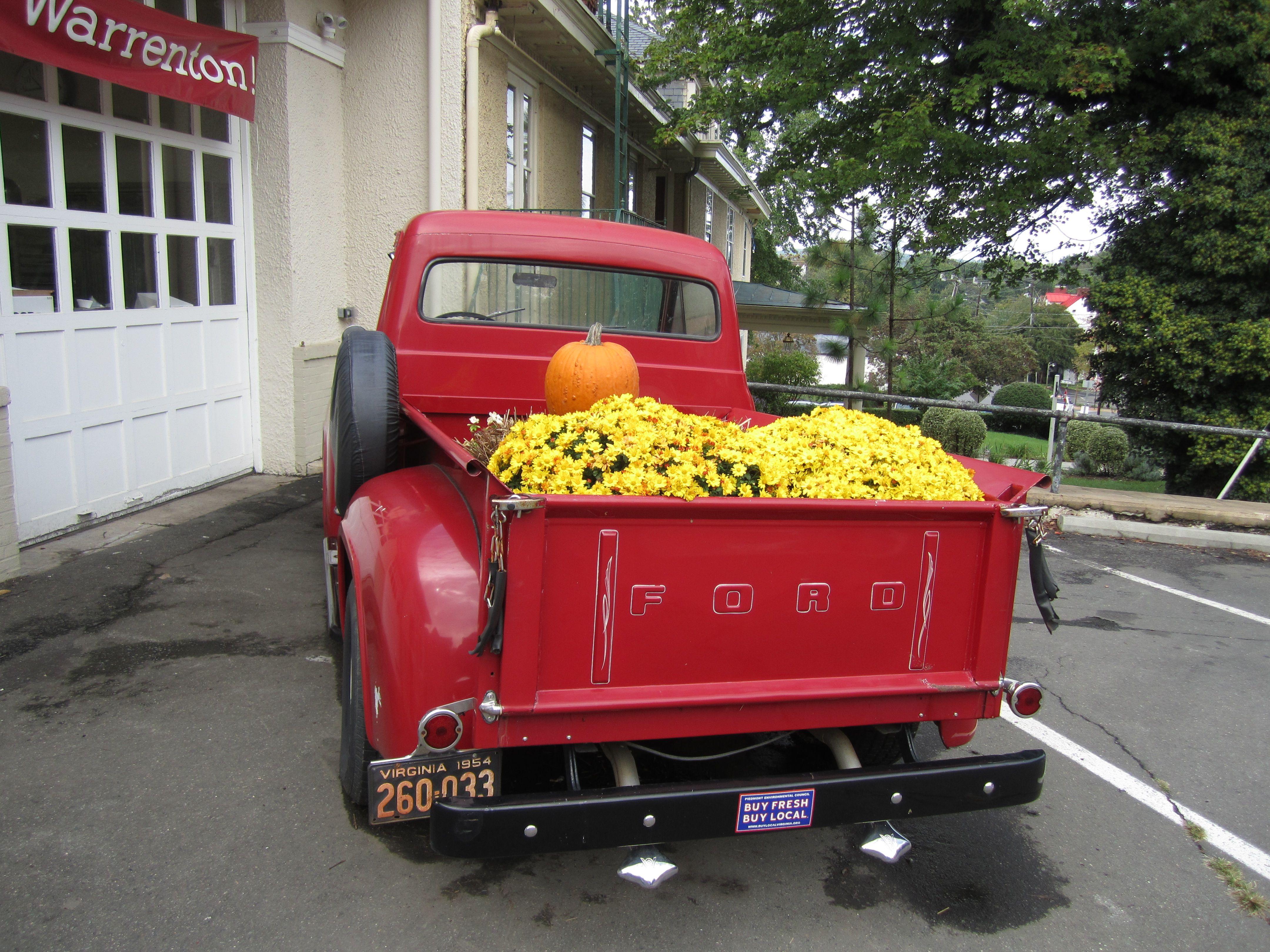 Old Red Truck Full Of Flowers I Want A 1950 Ford Someday Truett 1941 Grain